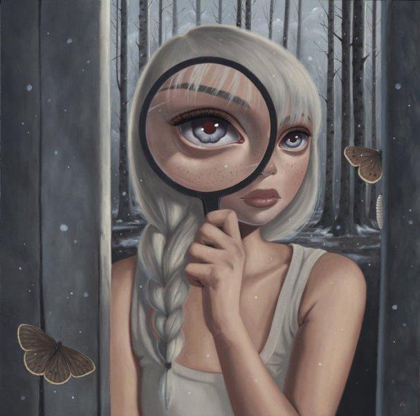 Ana Bagayan, ilustracija, futurealizam, izvanzemaljci, svemir, postojanje, dimenzije, astronomija, sveta geometrija, oči, metafizika, realnost, iluzija, simboli, mitovi, treće oko