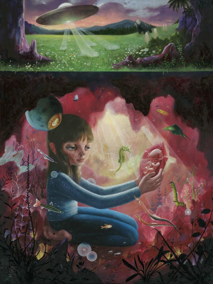 naranča blog, Nectar, Ana Bagayan, ilustracija, futurealizam, izvanzemaljci, svemir, postojanje, dimenzije, astronomija, sveta geometrija, oči, metafizika, realnost, iluzija, simboli, mitovi, treće oko