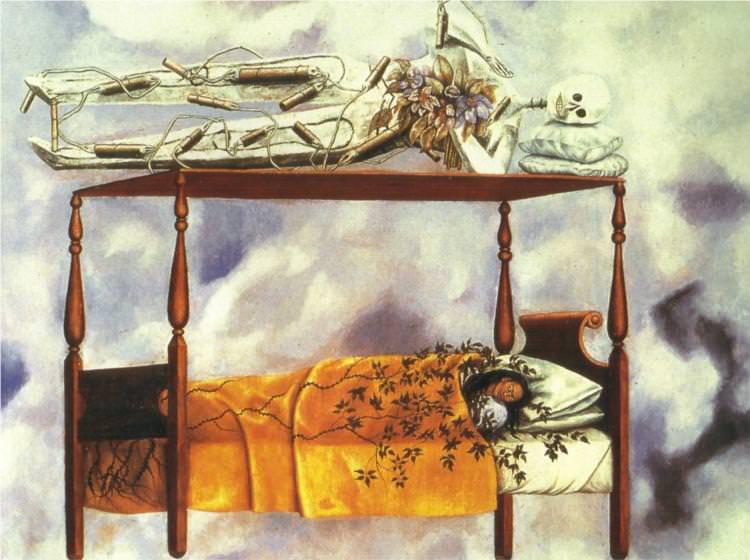 Frida Kahlo, El sueño (La cama), 1940