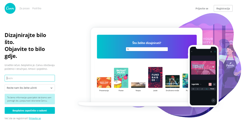 Izradite web stranicu za upoznavanje besplatno